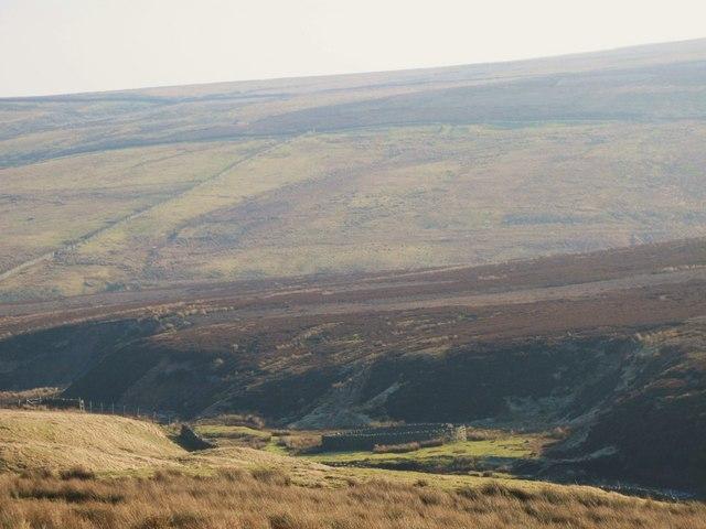 Rough pastures below Halleywell