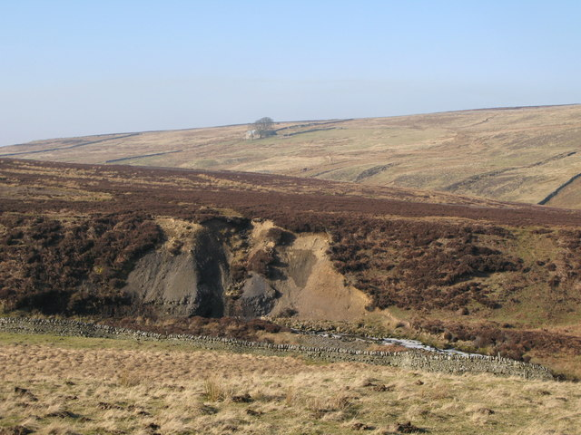 Eroded banks in the valley of Quickcleugh Burn (2)
