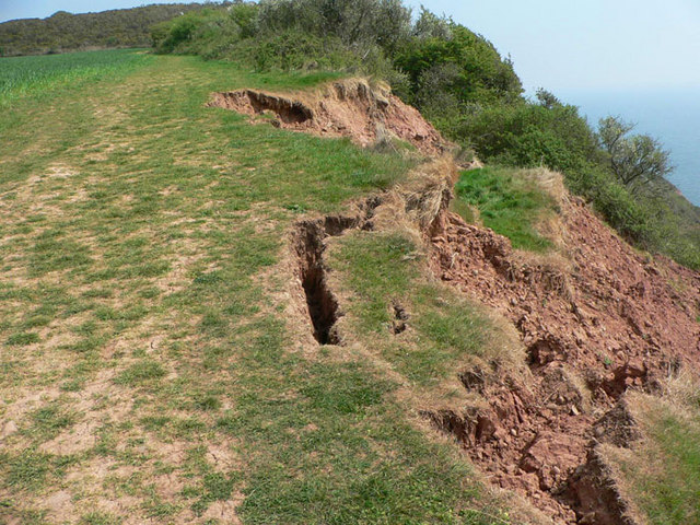 Erosion between Exmouth and Budleigh