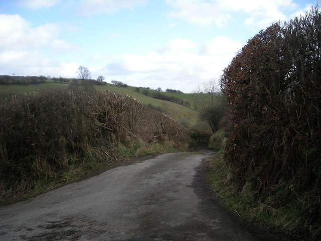 Lane near Cwm-brain