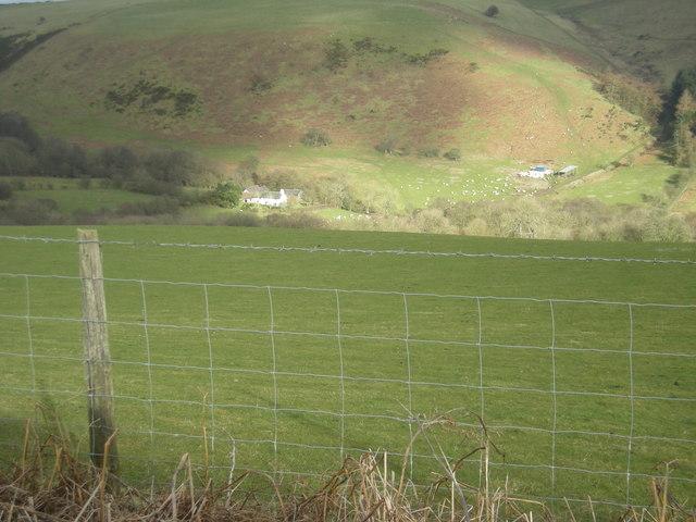 Hill farm at Llantroft