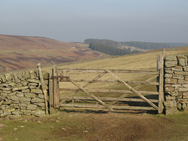 Gate on the track to Heatheryburn
