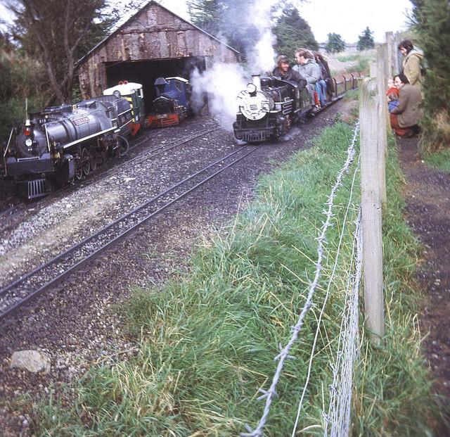 Engine sheds at Dobwalls Railway