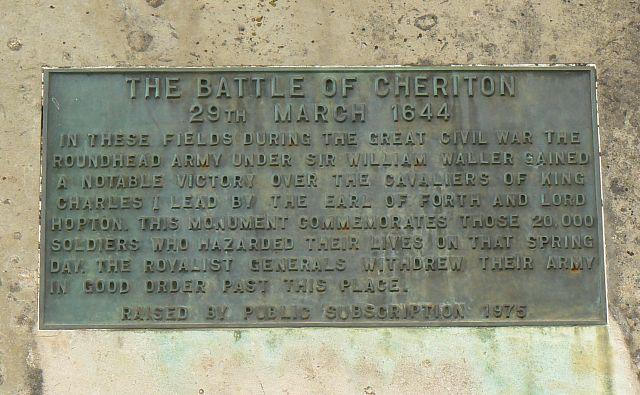 Memorial stone inscription, near Cheriton