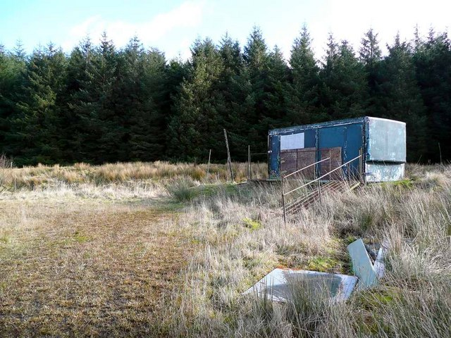 Fishing club hut at Craigendunton Reservoir
