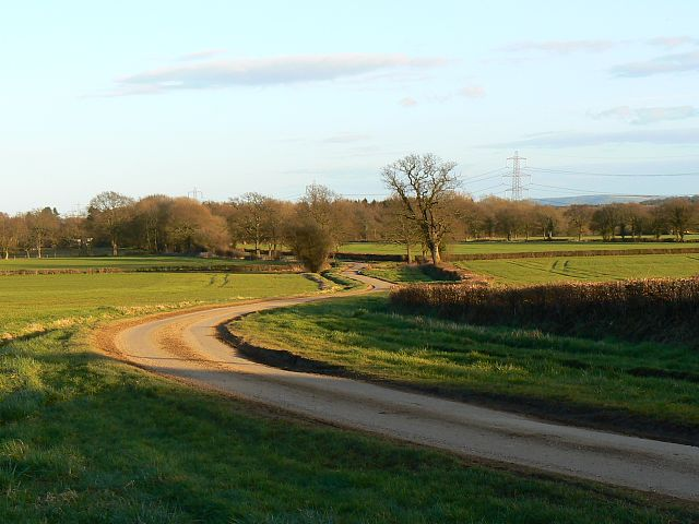 Lane east of Ryefield Cottages, near Goose Green