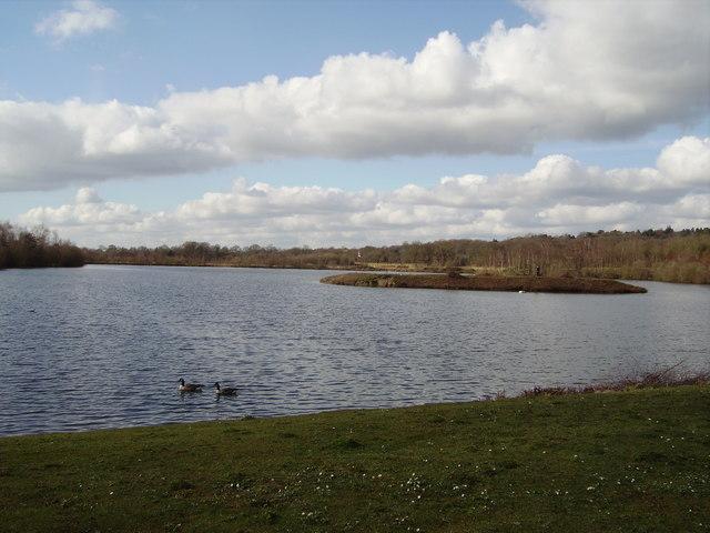 Horseshoe Lake and island