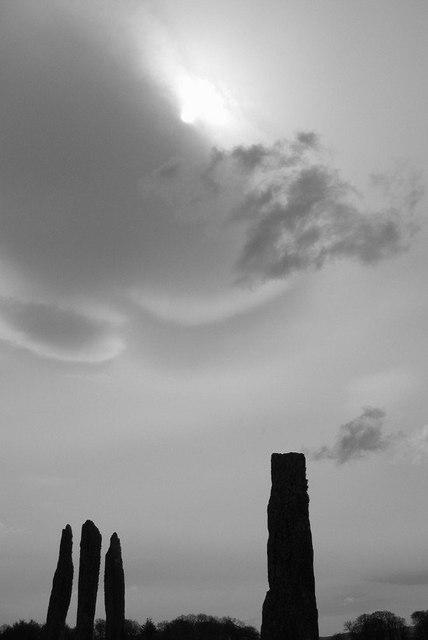 Ballymeanoch stones. Kilmartin valley. Argyll