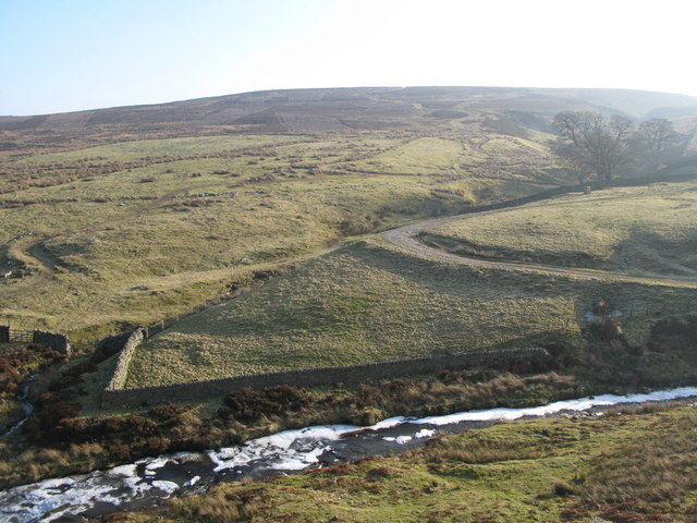Beldon Burn and the cleugh of Heathery Burn