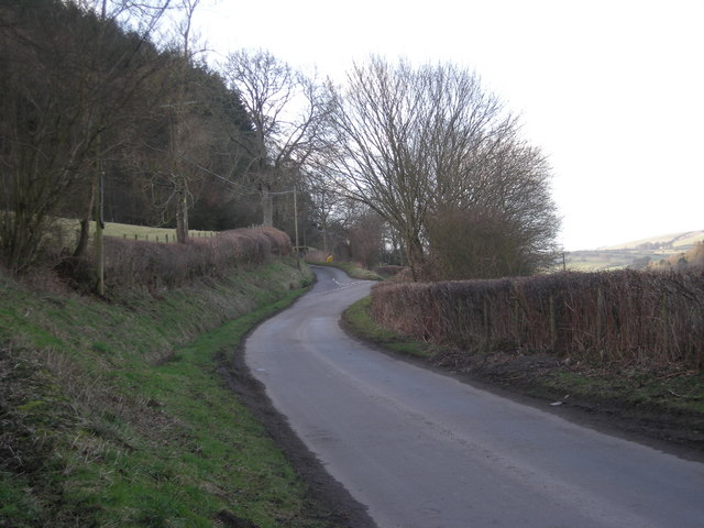 Lane junction at Caldy Bank