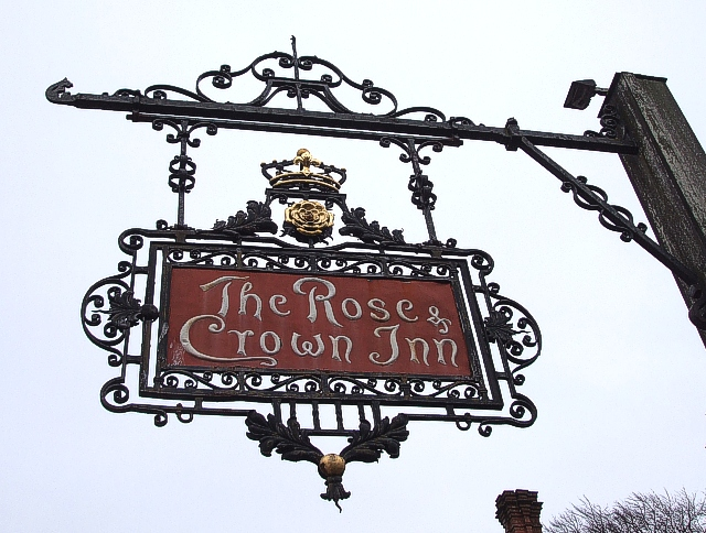 Rose & Crown Inn Sign