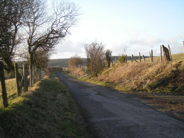 Lane near Riddings Farm