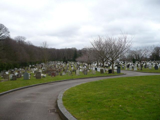 A corner of Chislehurst Cemetery