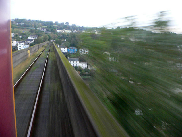 Over Calstock Viaduct on the train
