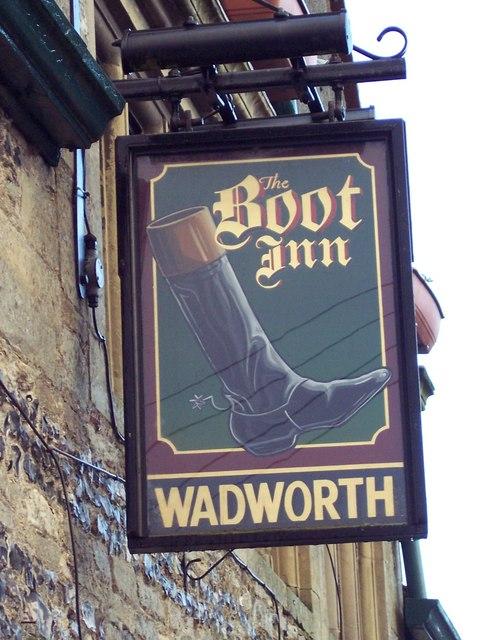 Sign for the Boot Inn, Berwick St James