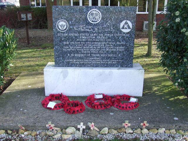 Memorial to U.S.A.A.F. Kimbolton