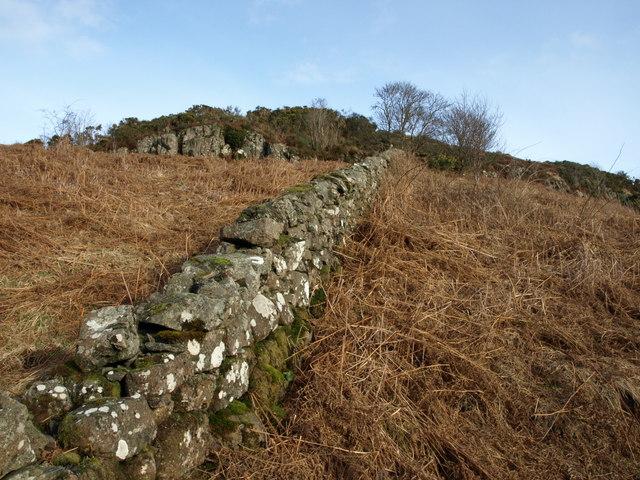 Drystone dyke,near Kilmacolm