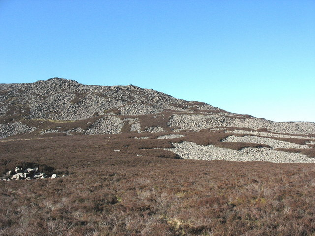 Scree covered NE slopes of Yr Eifl