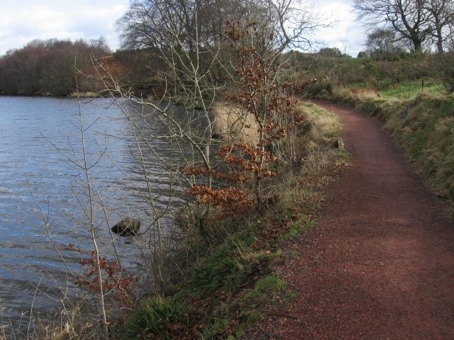 Path beside Banton Loch