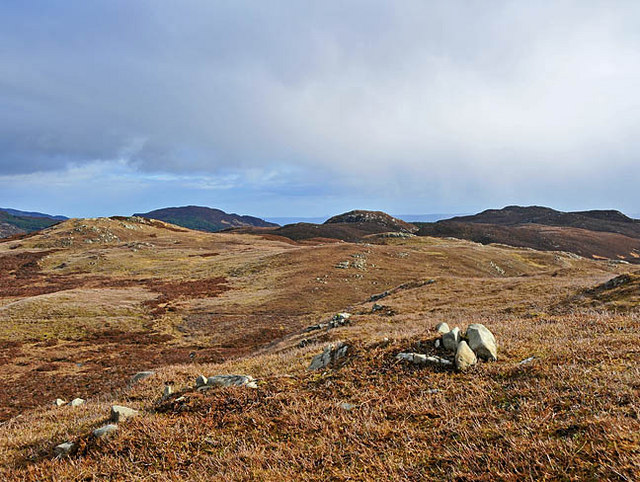 Moorland and Crags east of The Girron