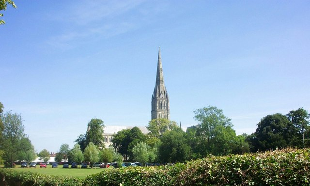 Cathedral from the South West-Salisbury
