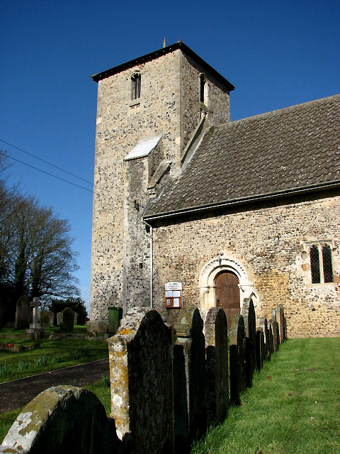 The church of St John the Evangelist - tower and S doorway