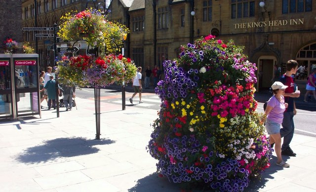 Floral Displays in Bridge Street, Salisbury