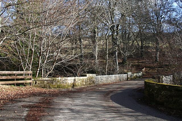 Heading southwards over the bridge of Arndilly