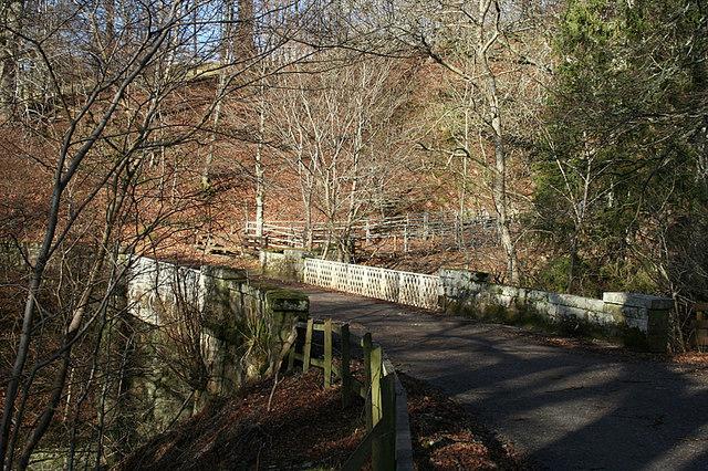 Across the Bridge of Arndilly towards Arndilly House