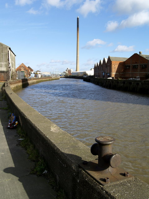 The River Hull in Stoneferry