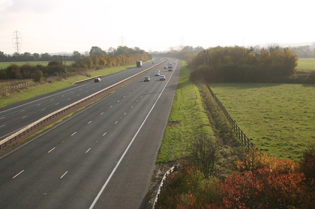 Looking South on the M40