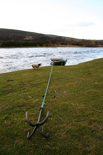 A typical Spey salmon fishing boat