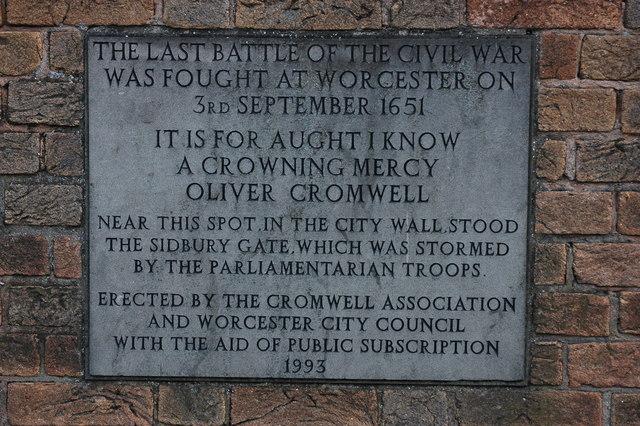 Civil War commemorative  plaque, Worcester