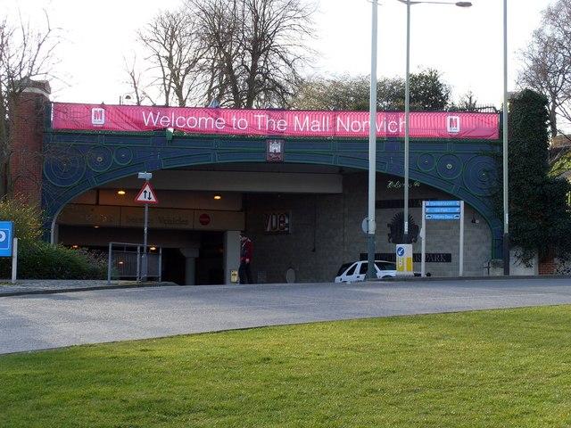 Entrance to Castle Mall Carpark - Bridge