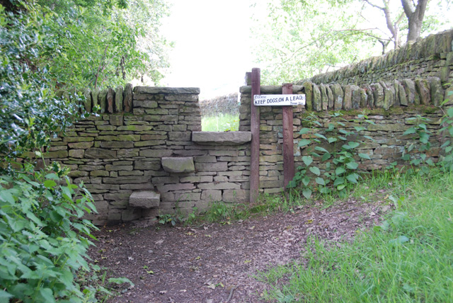 Stile on a footpath above Millthorpe, Derbyshire