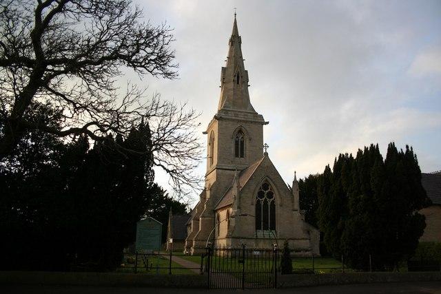St.John's church at dusk