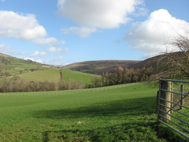 Farmland and hillside, South of Cregina