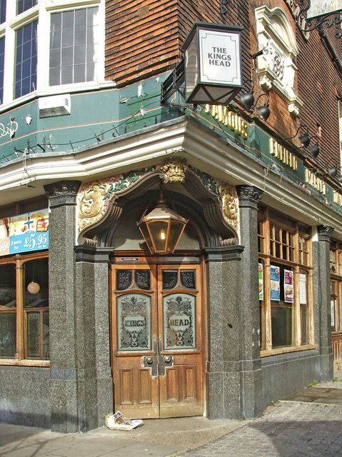 Entrance to the King's Head Public House, Enfield Town