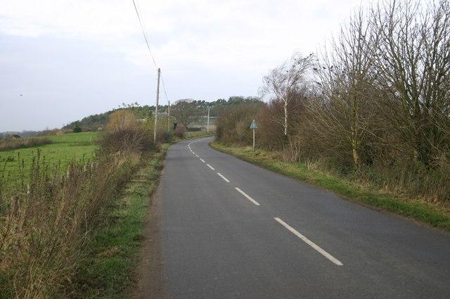 Dorton Road heading up Dorton Hill