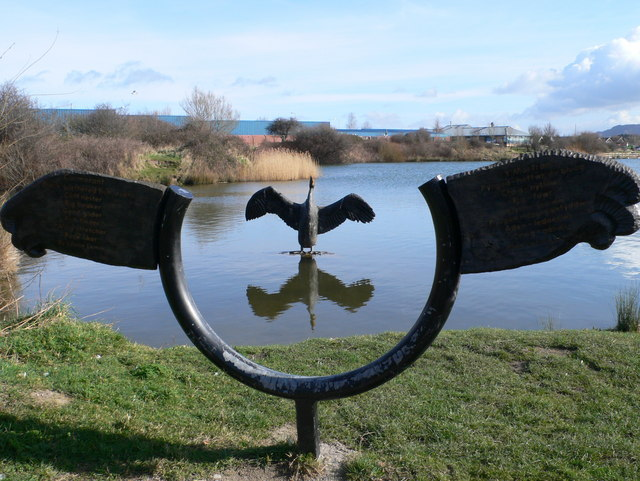 Cormorant sculpture, Brickfields Pond