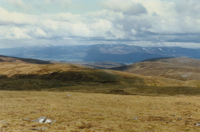 View east from Carn Sgulain