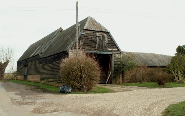 An old barn at Cantfield's Farm