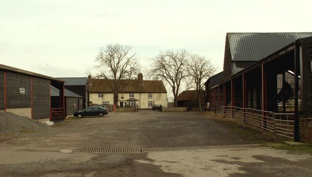 A view of Wick Farm from Church Road, the B.1026