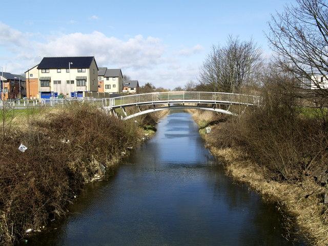 Barmston Drain and new footbridge