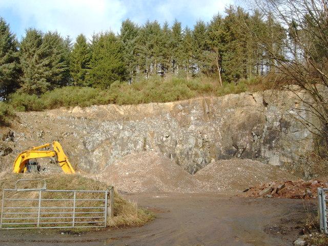 Quarry near Tynron