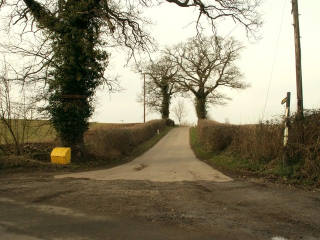 The road to Upper Hill Farm