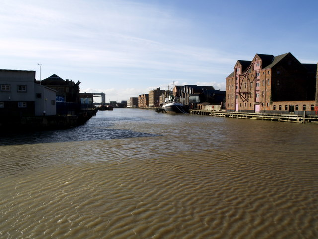The River Hull south  of Drypool Bridge