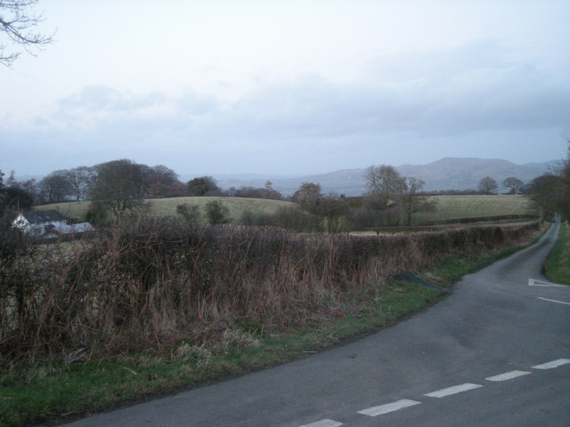 Lane junction at Pen-y-cwm