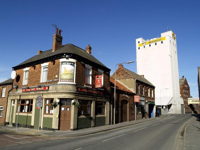 The Bay Horse Pub and Maizecor Silo