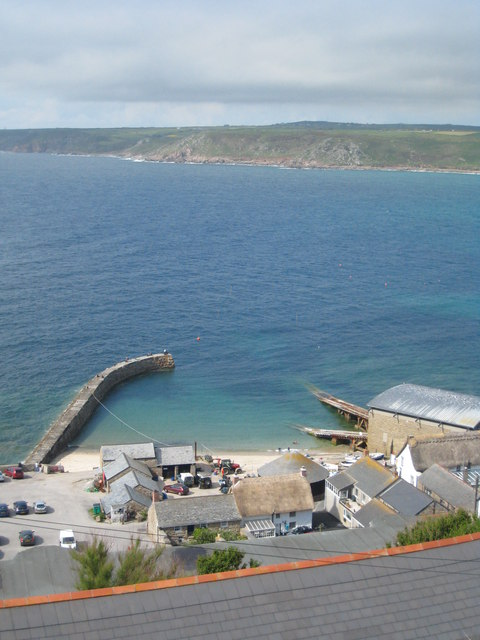 Sennen Cove harbour from Maria's Lane